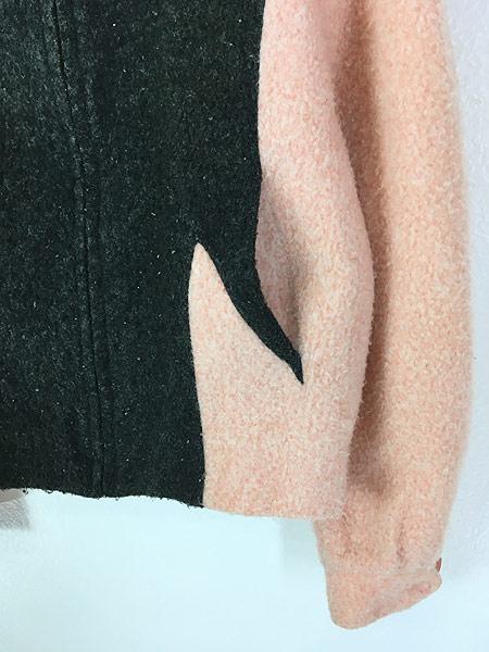 [3] 古着 50s USA製 McGREGOR 「Nylon Outerwear」 貴重 黒ピン!! フリース ドリズラー ジャケット 40位 古着