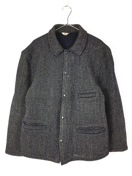 [1] 古着 50s Brown's Beach Jacket レア ネイビー ごま塩 ウール ビーチ ジャケット 42 美品!! 古着