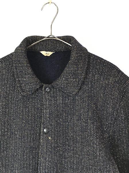 [2] 古着 50s Brown's Beach Jacket レア ネイビー ごま塩 ウール ビーチ ジャケット 42 美品!! 古着