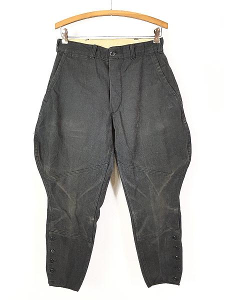 [1] 古着 40s SWEET-ORR 「Ace of Spades」 黒シャン コバートクロス ジョッパーズ パンツ W29 L25.5 古着