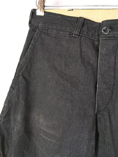 [2] 古着 40s SWEET-ORR 「Ace of Spades」 黒シャン コバートクロス ジョッパーズ パンツ W29 L25.5 古着