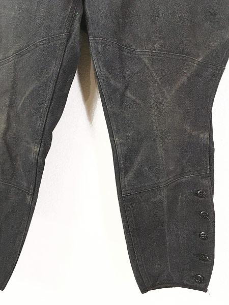 [3] 古着 40s SWEET-ORR 「Ace of Spades」 黒シャン コバートクロス ジョッパーズ パンツ W29 L25.5 古着