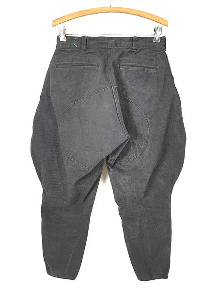 [4] 古着 40s SWEET-ORR 「Ace of Spades」 黒シャン コバートクロス ジョッパーズ パンツ W29 L25.5 古着