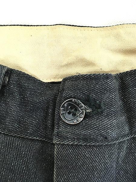 [5] 古着 40s SWEET-ORR 「Ace of Spades」 黒シャン コバートクロス ジョッパーズ パンツ W29 L25.5 古着