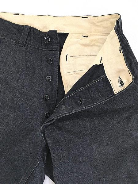 [6] 古着 40s SWEET-ORR 「Ace of Spades」 黒シャン コバートクロス ジョッパーズ パンツ W29 L25.5 古着