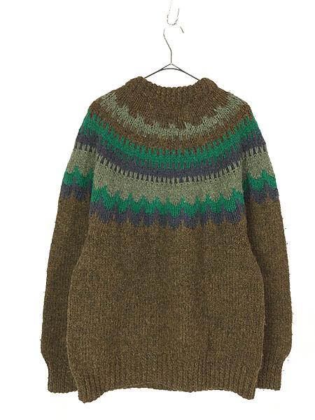 [3] 古着 デンマーク製 Danspun ノルディック スカンジナビアン ヘビー ウール ハンド ニット セーター XL位 古着