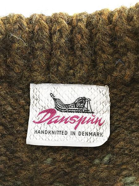 [5] 古着 デンマーク製 Danspun ノルディック スカンジナビアン ヘビー ウール ハンド ニット セーター XL位 古着