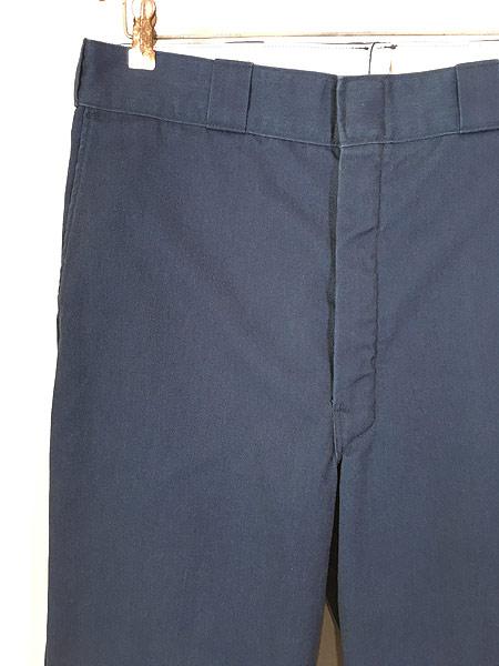 [2] 古着 80s USA製 Dickies 防寒 起毛ライナー オールド ワーク チノ パンツ ストレート W34 L31 古着