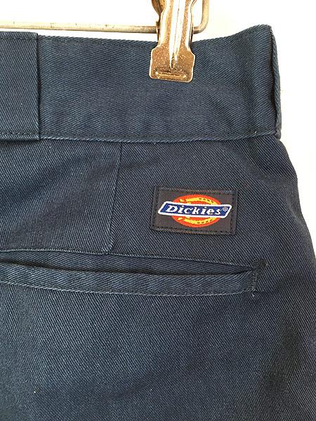 [4] 古着 80s USA製 Dickies 防寒 起毛ライナー オールド ワーク チノ パンツ ストレート W34 L31 古着