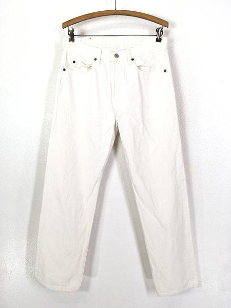 [1] 古着 80s USA製 Levi's 501-0651 Care入り ホワイト デニム パンツ ジーンズ ストレート W31 L29.5 古着