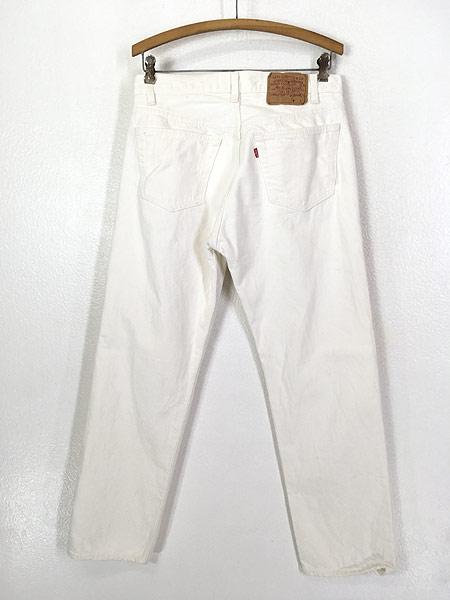[3] 古着 80s USA製 Levi's 501-0651 Care入り ホワイト デニム パンツ ジーンズ ストレート W31 L29.5 古着