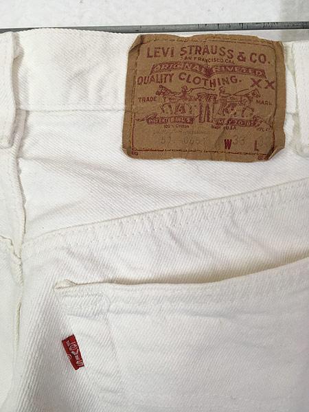 [4] 古着 80s USA製 Levi's 501-0651 Care入り ホワイト デニム パンツ ジーンズ ストレート W31 L29.5 古着