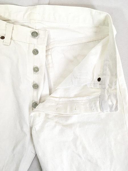 [6] 古着 80s USA製 Levi's 501-0651 Care入り ホワイト デニム パンツ ジーンズ ストレート W31 L29.5 古着