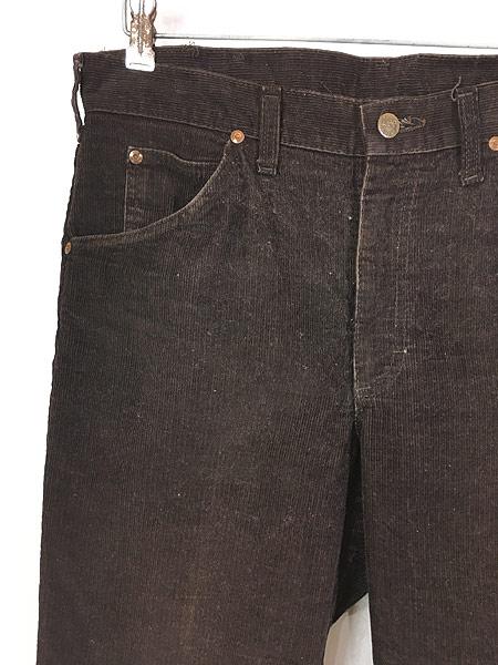 [2] 古着 70s USA製 Lee 200 コーデュロイ パンツ コーズ スリムストレート W33 L29 美品!! 古着