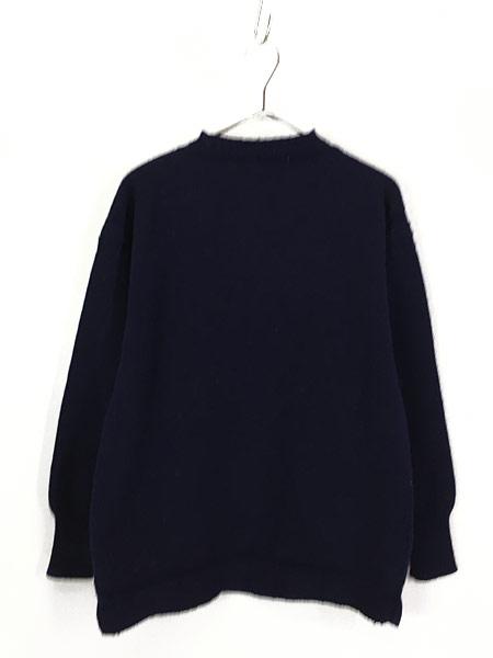 [1] 古着 60-70s 人気 ガンジー ニット オールド モックネック ヘビー ウール ニット セーター XL位 古着