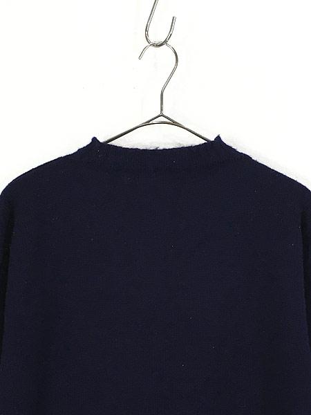 [2] 古着 60-70s 人気 ガンジー ニット オールド モックネック ヘビー ウール ニット セーター XL位 古着