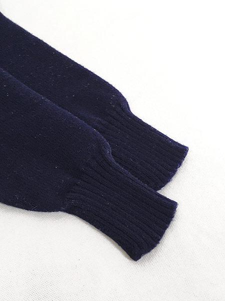 [4] 古着 60-70s 人気 ガンジー ニット オールド モックネック ヘビー ウール ニット セーター XL位 古着