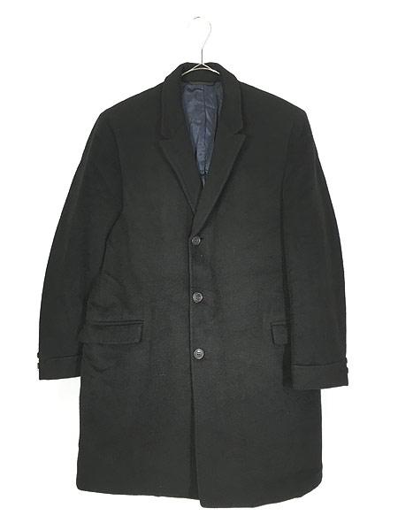 [1] 古着 60s USA製 LOUIS LEVY 豪華 100%カシミア チェスター バルマカーン コート 黒!! 38位 美品!! 古着