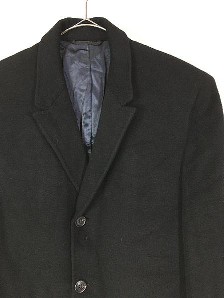 [2] 古着 60s USA製 LOUIS LEVY 豪華 100%カシミア チェスター バルマカーン コート 黒!! 38位 美品!! 古着