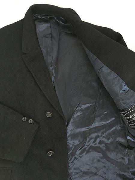 [6] 古着 60s USA製 LOUIS LEVY 豪華 100%カシミア チェスター バルマカーン コート 黒!! 38位 美品!! 古着