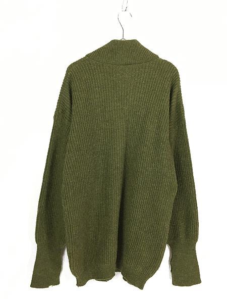 [3] 古着 90s フィンガーホール ローゲージ ウール メカニック ニット セーター S 古着