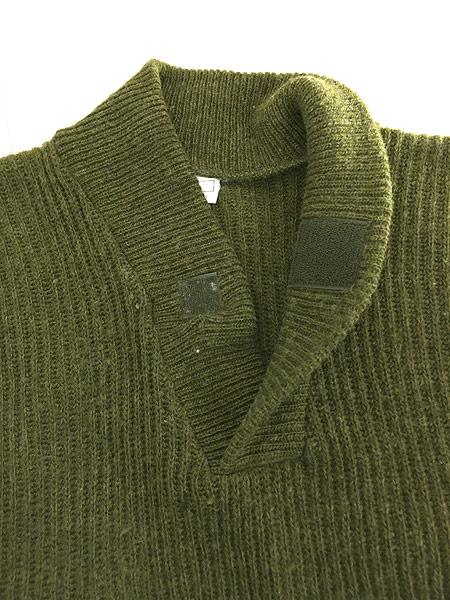 [5] 古着 90s フィンガーホール ローゲージ ウール メカニック ニット セーター S 古着