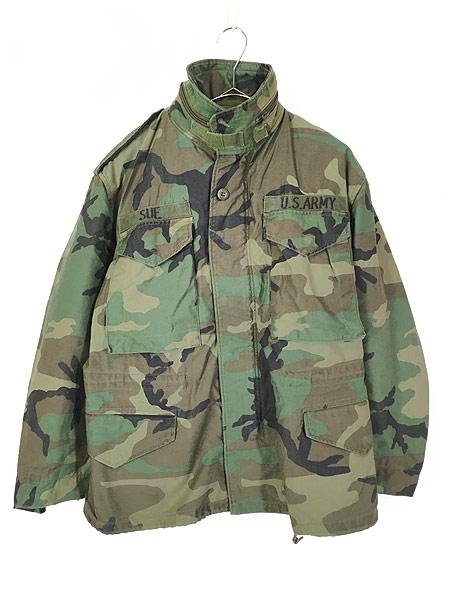 [1] 古着 80s 米軍 US ARMY ウッドランド カモ 迷彩 M-65 ミリタリー フィールド ジャケット S-XS!! 古着