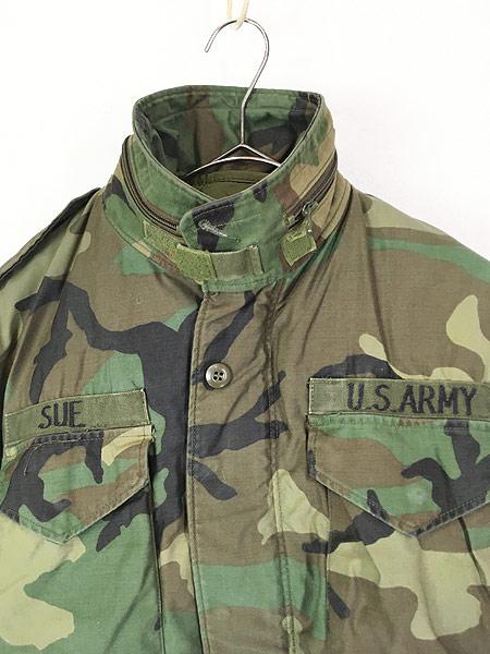 [2] 古着 80s 米軍 US ARMY ウッドランド カモ 迷彩 M-65 ミリタリー フィールド ジャケット S-XS!! 古着