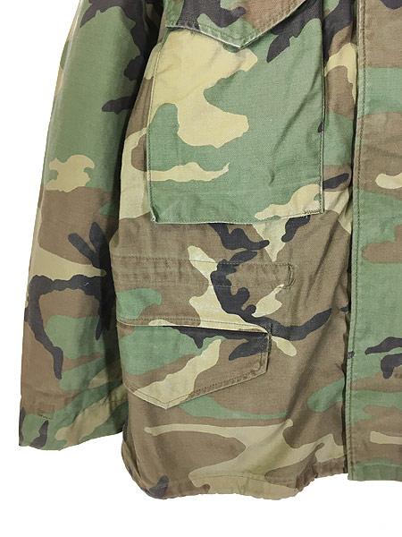 [3] 古着 80s 米軍 US ARMY ウッドランド カモ 迷彩 M-65 ミリタリー フィールド ジャケット S-XS!! 古着