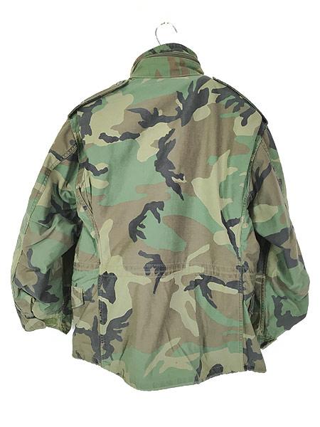 [4] 古着 80s 米軍 US ARMY ウッドランド カモ 迷彩 M-65 ミリタリー フィールド ジャケット S-XS!! 古着