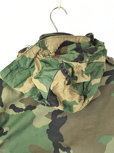 [5] 古着 80s 米軍 US ARMY ウッドランド カモ 迷彩 M-65 ミリタリー フィールド ジャケット S-XS!! 古着