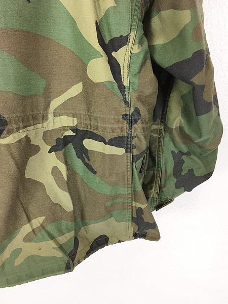 [6] 古着 80s 米軍 US ARMY ウッドランド カモ 迷彩 M-65 ミリタリー フィールド ジャケット S-XS!! 古着