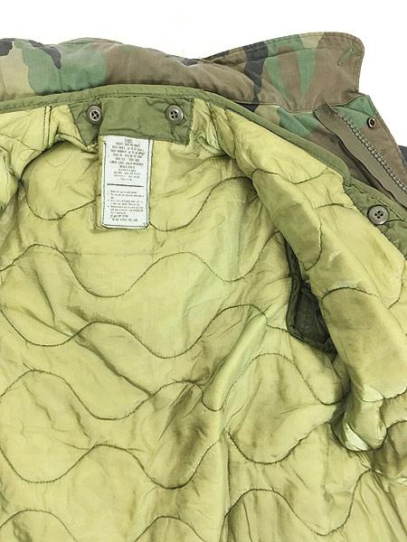 [7] 古着 80s 米軍 US ARMY ウッドランド カモ 迷彩 M-65 ミリタリー フィールド ジャケット S-XS!! 古着