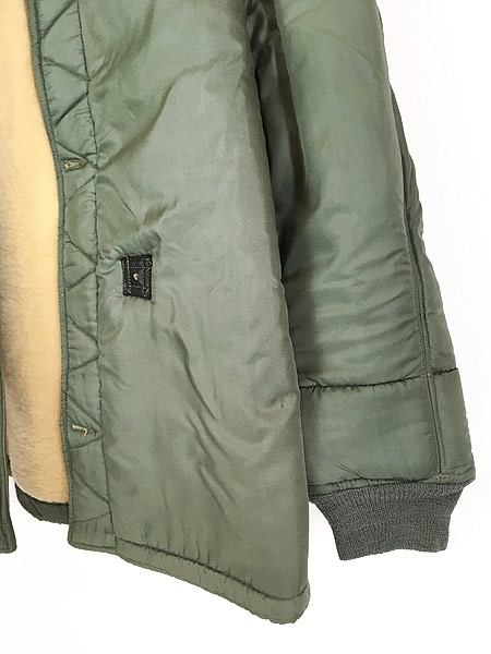 [3] 古着 60s 米軍 US AIR FORCE 「4889」 ミリタリー ウール ボア フィールド ライナー ジャケット M-R 古着