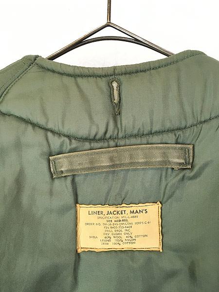 [5] 古着 60s 米軍 US AIR FORCE 「4889」 ミリタリー ウール ボア フィールド ライナー ジャケット M-R 古着