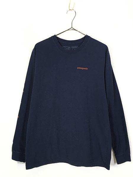 [1] 古着 18s Patagonia アーム ロゴ プリント ロングスリーブ Tシャツ ロンT M 古着
