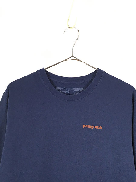 [2] 古着 18s Patagonia アーム ロゴ プリント ロングスリーブ Tシャツ ロンT M 古着