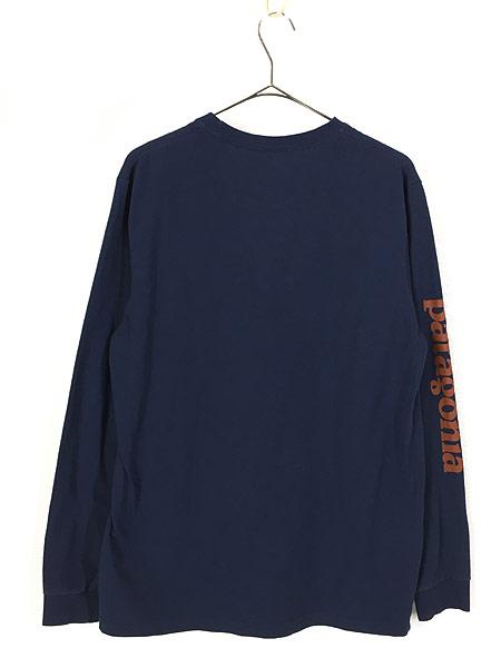 [3] 古着 18s Patagonia アーム ロゴ プリント ロングスリーブ Tシャツ ロンT M 古着