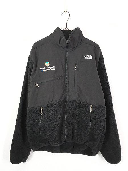 [1] 古着 90s TNF The North Face ノース もこもこ デナリ フリース ジャケット オールブラック L 古着