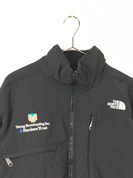 [2] 古着 90s TNF The North Face ノース もこもこ デナリ フリース ジャケット オールブラック L 古着
