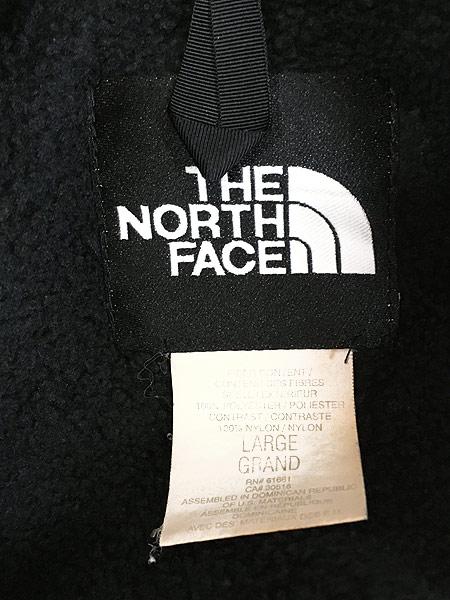 [6] 古着 90s TNF The North Face ノース もこもこ デナリ フリース ジャケット オールブラック L 古着