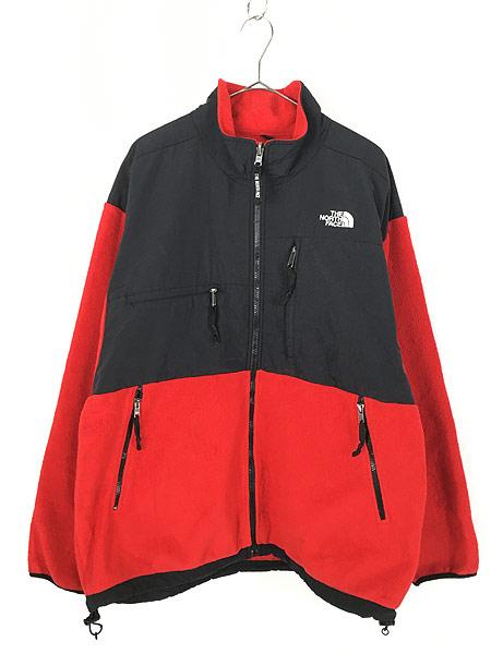 [1] 古着 90s TNF The North Face ノース 高機能 POLARTEC デナリ フリース ジャケット 赤 XL 古着