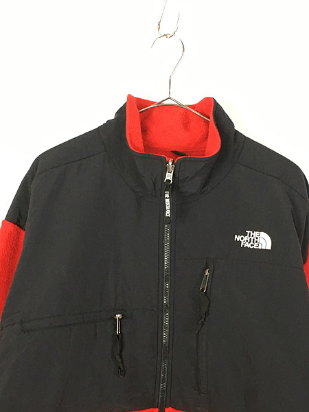 [2] 古着 90s TNF The North Face ノース 高機能 POLARTEC デナリ フリース ジャケット 赤 XL 古着