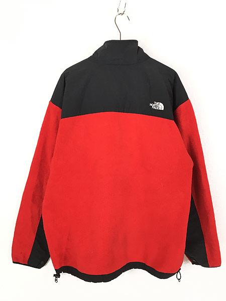 [3] 古着 90s TNF The North Face ノース 高機能 POLARTEC デナリ フリース ジャケット 赤 XL 古着