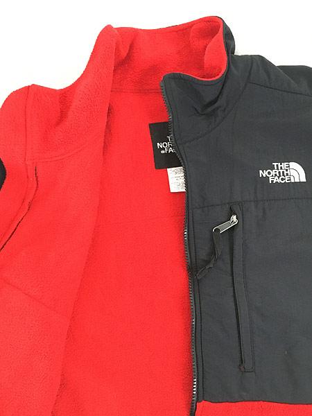 [5] 古着 90s TNF The North Face ノース 高機能 POLARTEC デナリ フリース ジャケット 赤 XL 古着