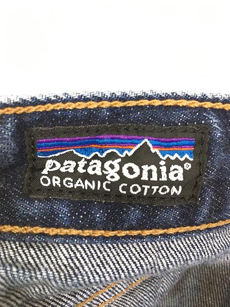 [7] 古着 00s Patagonia オーガニック コットン デニム パンツ ジーンズ ストレート W33 L29 古着
