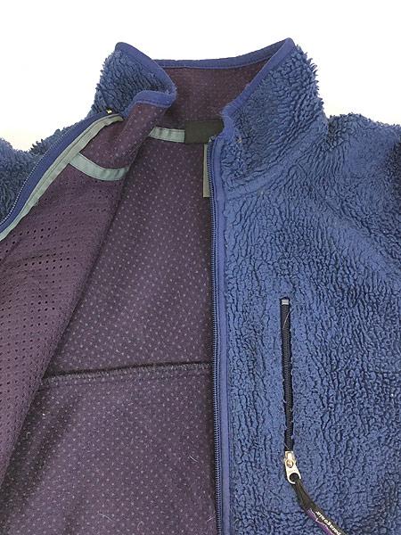 [5] 古着 96s USA製 Patagonia ベビー レトロ パイル カーディガン フリース ジャケット L 古着