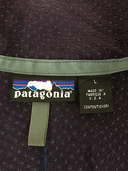 [6] 古着 96s USA製 Patagonia ベビー レトロ パイル カーディガン フリース ジャケット L 古着
