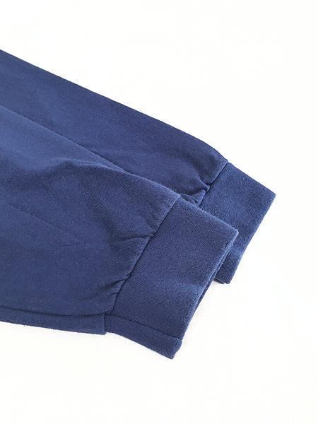 [4] 古着 90s USA製 NIKE スウォッシュ ワンポイント ハイネック ロング スリーブ Tシャツ ロンT 紺 XL 古着