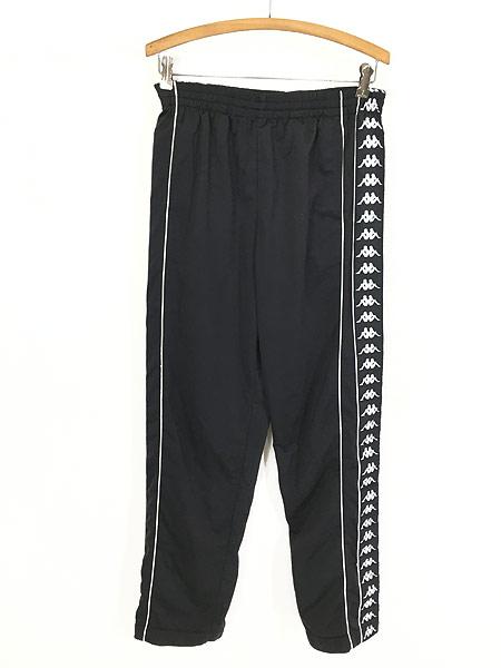 [1] 古着 90s Kappa サイド テープ ボタン ジャージ パンツ トラック パンツ M 古着